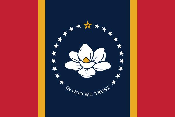 Mississippi Ms State Flag Magnet