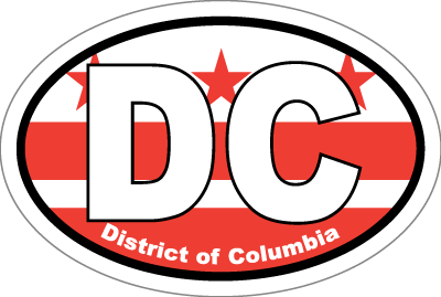 District Of Columbia Dc State Flag Oval Sticker