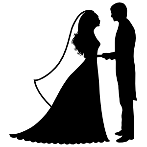 Bride And Groom Wedding Sticker