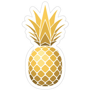 Shiny Golden Pineapple Sticker