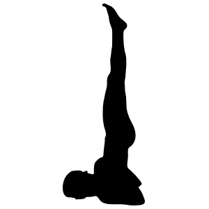 Yoga Shoulderstand Pose Sticker