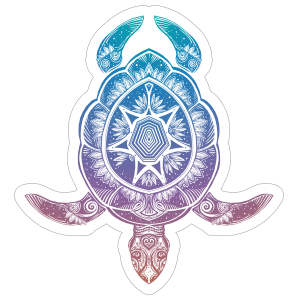 Colorful Turtle Boho Sticker
