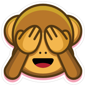Monkey See No Evil Emoji Sticker