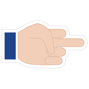 Hands Middle Finger LH Emoji Sticker