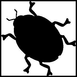 Beetle Sillhouette Sticker