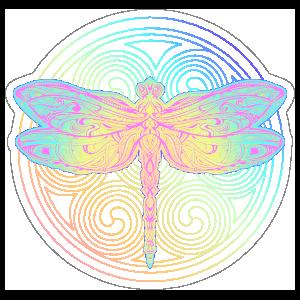 BoHo Graphic Dragonfly Sticker