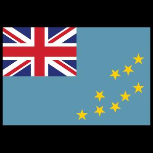 Tuvalu Country Flag Sticker
