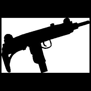 Uzi Gun Sticker