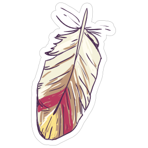 Short Feather Boho Sticker