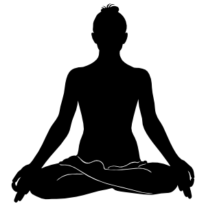 Yoga Seated Pose Sticker
