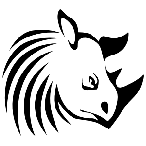 Rhinoceros Head With Lines Sticker