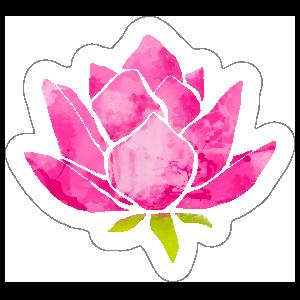 Cool Pink Lotus Flower Sticker