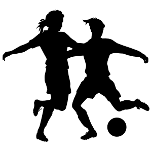Strong Defense Female Soccer Sticker
