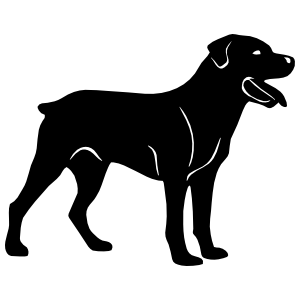 Rottweiler Dog Sticker