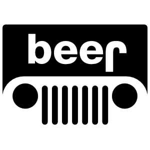 Beer Jeep Sticker