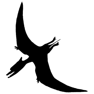 Pterodactyl Dinosaur Sticker