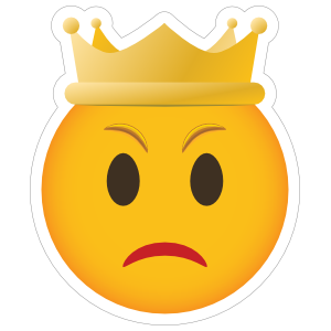Phone Emoji Sticker Crown Angry