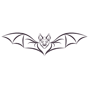 Crazy Bat Sticker