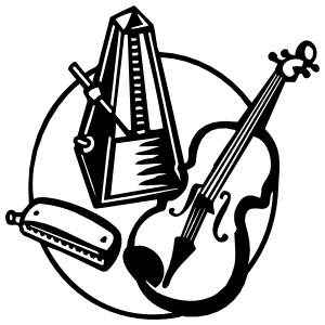 Violin Musician Instruments Sticker
