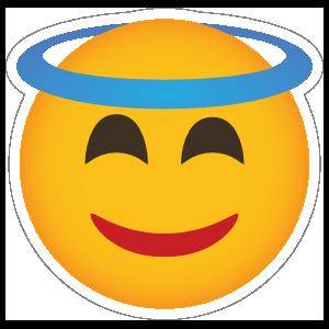 Phone Emoji Sticker Halo