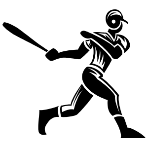 Detailed Baseball Player Sticker