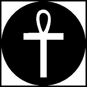 Ankh Circle Transfer Sticker