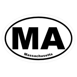 Massachusetts Ma Oval Sticker