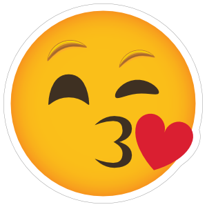 Phone Emoji Sticker Blowing a Kiss