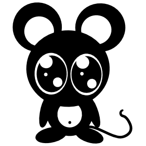 Cartoon Mouse With Large Eyes Sticker