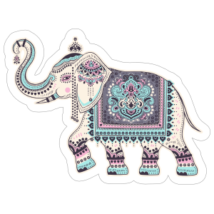 Indian Elephant Boho Sticker