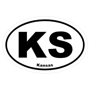 Kansas Ks Oval Sticker