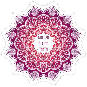 Purple and Red Kappa Alpha Theta Mandala Sticker