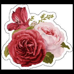 Pretty bouquet of roses flower stickers mightylinksfo