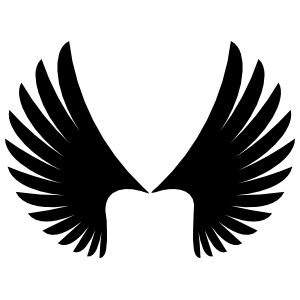 Feathered Angel Wings Sticker