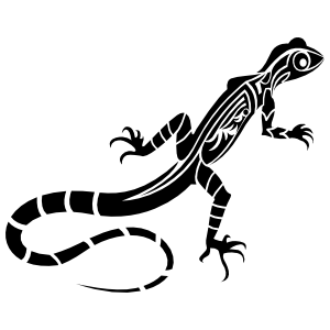 Cute Tribal Lizard Gecko Sticker