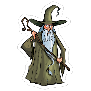 Green Robed Wizard Sticker