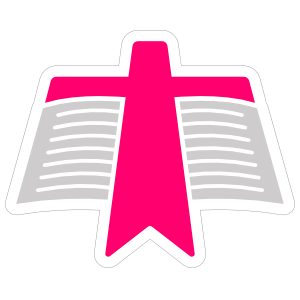 Bible with Cross on It Sticker