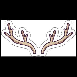 Antlers Boho Sticker