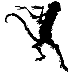 Dancing Monkey Sticker