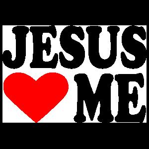 Jesus Hearts Me Sticker