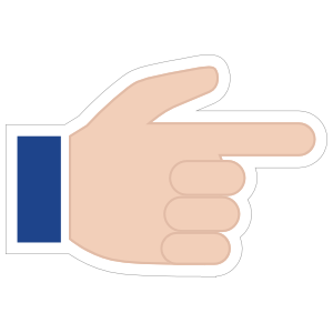Hands Pointing with Thumb Up Emoji Sticker