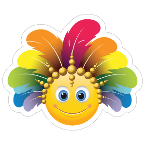 Cute Feather Headdress Emoji Sticker