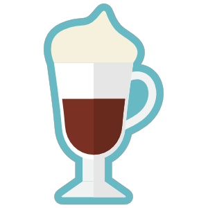 Fancy Coffee Drink With Whipped Cream Sticker