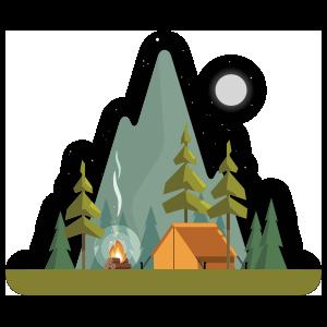 Night Camping Sticker