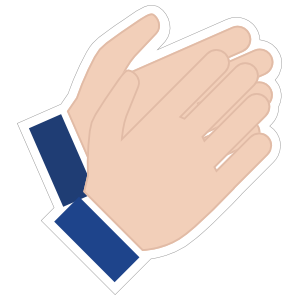 Hands Clapping Emoji Sticker