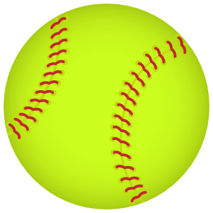 Softball Full Color Sticker