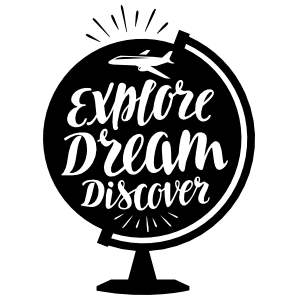 Explore Dream Discover Globe Sticker