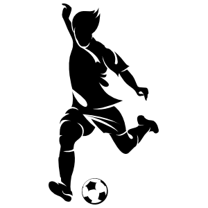 Fast Soccer Player Running Sticker