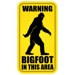 Bigfoot In This Area Sign Sticker