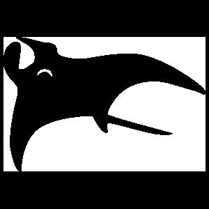 Elegant Stingray Manta Ray Sticker